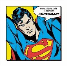 THIS LOOKS LIKE A JOB FOR SUPERMAN ~ 16x16 FINE ART COMIC PRINT DC