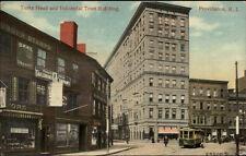 Providence RI Turks Head & Industrial Trust Bldg Visible Signs Postcard c1910