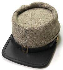 CIVIL WAR CSA CONFEDERATE JEAN WOOL KEPI FORAGE CAP HAT-MEDIUM