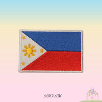Philippines National Flag Embroidered Iron On Patch Sew On Badge Applique