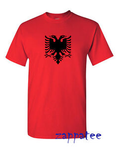 Albania T Shirt - Red or White Albanian tee