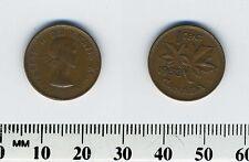 Canada 1953 - 1 Cent Bronze Coin - Queen Elizabeth II