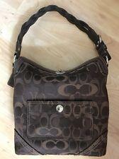 coach purse brown signature