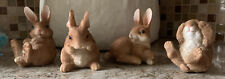 Lot Of 4 Easter / Spring Bunnies