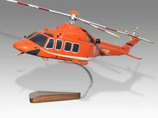 AgustaWestland AW139 Ornge Handcrafted Solid Wood Display Helicopter Model