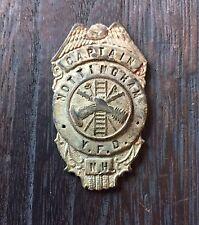 Rare Early Captain Nottingham Veteran Fire Department  New Hampshire Eagle Badge