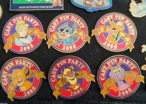 WDW Exclusive Cast Pin Party 05 LE Stitch Pluto Simba Tigger Figment Cinderella