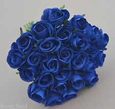 NAVY BLUE ROSE POSY WEDDING BOUQUET ARTIFICIAL SILK FLOWER FLOWERS PRE MADE