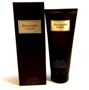 Abercrombie & Fitch First Instinct 200ml Shower Gel Body Wash for Men, Shampoo