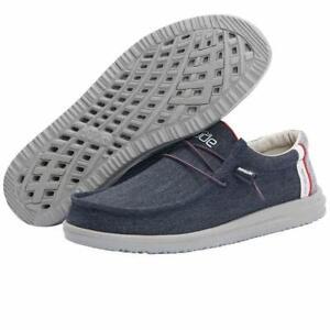 112272551 Hey Dude Men's Free Comfort Shoe Arctic Blue NEVER WORN