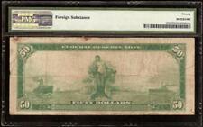 LARGE 1914 $50 DOLLAR BILL FEDERAL RESERVE NOTE BIG PAPER MONEY Fr 1035 PMG VF