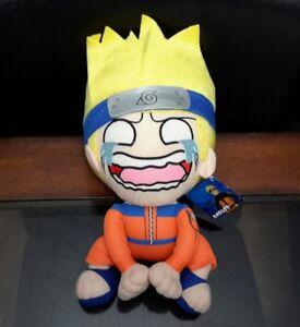 """Sega Prize Naruto Crying Anime 14"""" Plush Toy Doll 2007 w/ tags"""