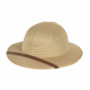 Adults Safari Hat Jungle Explorer Indiana Jones Pith Helmet Fancy Dress Hard