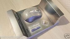 Mini Souris Sans Fils Optique Gris/Blanc 1600 DPI 2 Piles Inclus  Neuf