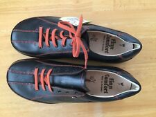 FINN COMFORT Ikebukuro Women's UK 7 / Black Leather with Orange stitching / NEW