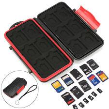 12 TF + 12 SD Memory Card Case Holder Hard Storage Wallet Anti-shock Waterproof