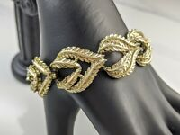 Beautiful Vintage Gold-tone Openwork Leaf Bracelet from Coro Jewellery