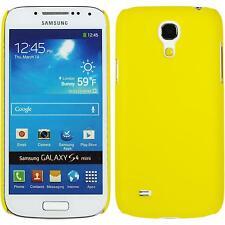 Coque Rigide Samsung Galaxy S4 Mini - gommée jaune + films de protection