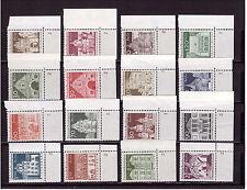 Berlino eckrand r.u.b.z. 270-285 costruzioni 1966 completa forma numero 16 valori posta freschi