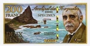Kerguelen Islands 200 Francs Kerguelenois 2010 Polymer Specimen Fantasy Note