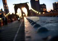 "BROOKLYN BRIDGE MANHATTAN NEW A4 CANVAS GICLEE ART PRINT POSTER 11.7"" x 8.3"""