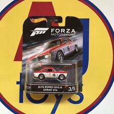 HOT WHEELS 1:64 FORZA MOTORSPORT ALFA ROMEO GIULIA SPRINT GTA CASE D