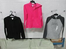 3 EVERLAST ATHLETIC TOP HOODIE FLEECE MEDIUM WOMEN MD CLOTHES OUTFIT LONG LOT