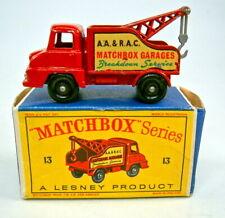 """Matchbox RW 13C Thames Wreck Truck rot """"Matchbox Garages"""" in """"D"""" Box"""