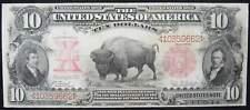 1901 $10 Large Size Legal Tender Note Bison Fr114 F Fine