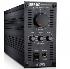 APART SBR160 POWER AMPLIFIER. Output: 2 x 80W RMS at 4 ohms
