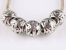 hot 5pcs retro Tibetan silver big hole beads fit Charm European Bracelet #A603