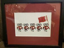 """University of Wisconsin Mascot Bucky Badger 3D Framed Print 9""""H x 11""""W Framed"""