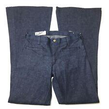 Vintage 70s Landlubber Bell Bottom Jeans Sanforized Dark Blue Size 4 New 26x31