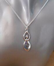 Fertility Goddess Pendant Necklace Pregnancy Mother Venus Gaia Pagan - Handmade