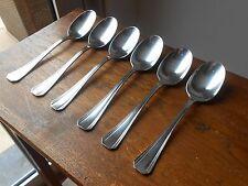 """CHRISTOFLE. 6 cuillères de table. Art-déco. Modèle """"BOREAL"""". Dinner spoons"""