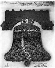 New 8x10 Photo: Human Liberty Bell of 25,000 Men at Camp Dix