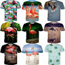 Fashion 3D T-Shirt Women Men Casual Short Sleeve Tops Tee Cartoon Flamingo Print