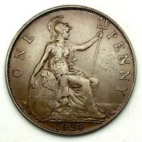 1920, GREAT BRITAIN, GEORGE V - ONE PENNY, BRONZE  COIN #2  - KM# 810