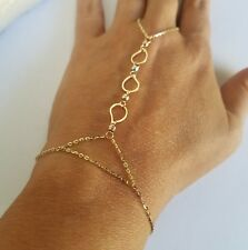 Wheat 14k Yellow Gold 1mm Spiga Chain Necklace 3.41g