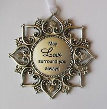 j May Love surround you always Loving Thoughts ORNAMENT crystal Ganz