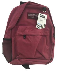 "East West 16.5"" X12.5"" X 5"" Burgundy Backpack w/ Water Bottle Pocket"