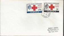 1963 Jamaica FDC Red Cross Issue Scott 203-4