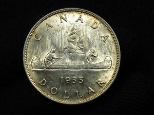 1935 Canada Silver Dollar ORIGINAL HIGH GRADE