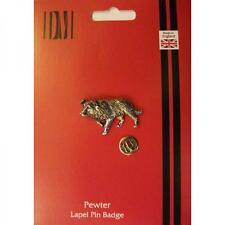 Border Collie Dog English Pewter LAPEL PIN Badge Owner Sheep Present GIFT BOX
