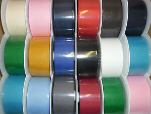 TOP QUALITY GROSGRAIN RIBBON 50MM, 5 METRES, ASSORTED COLS GIFT WRAP, CRAFTS