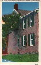 Unusual House & Tree on Braddock Street, Winchester Virginia Old Linen Postcard