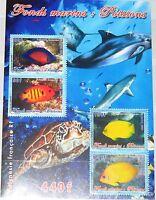 FRENCH POLYNESIA POLYNESIEN 2005 Block 31 Fische Fish Marine Life Corals MNH