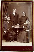 PHOTOGRAPHIE ALSACE GRAND CDV PHOTO HEUBERGER à MULHOUSE 2 COUPLES a738