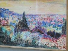 Johannes Schiefer (Netherlands1896-1979) Signed Landscape Crayon Drawing
