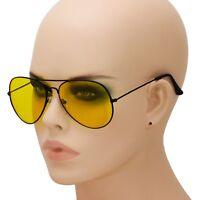 Night Vision HD Driving Sunglasses for Men Women Anti Glare Yellow Aviator